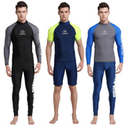 Diving suit, men's long sleeved swimsuit, shorts, large diving suits, speed drying, sunscreen, tight jellyfish, snorkeling