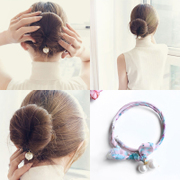 A hair Stylers for female hair fluffy Korean variety lazy pearl jewelry bud hair band