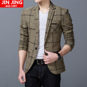 Spring and autumn new men's leisure suit Korean youth business suit men's Slim small suit jacket size