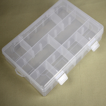 Small button boxes transparent grid storage boxes plastic jewelry beaded jewelry box storage box Plaid accessories box