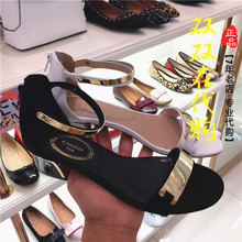 Counter genuine purchasing Baidu shoes 2017 summer style of coarse toe sandals A7355004 A01A03