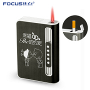 Focus on the characteristics of ultra thin cigarette box automatic cigarette cigarette lighter cigarette box creative cigarette protection box