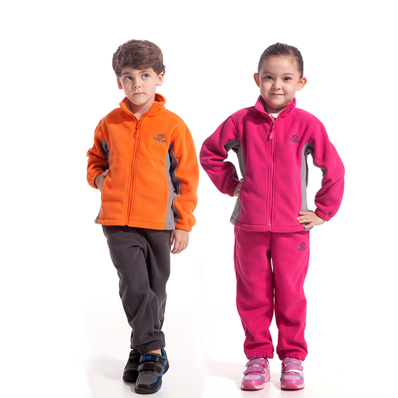 TECTOP's children's outdoor windproof fleece cardigan thickened Blazer Jacket JW4057