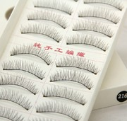 Taiwan handmade 216 eyelash natural cotton stalk daily student vivid nude make-up studio eyelash bag mail