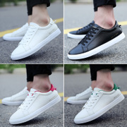 Spring and summer Adidas flat plate white shoe male Korean couple solid sports shoes lace up shoes