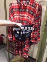 Special offer UR counter purchasing Womens plaid flannel shirts wide belt dress YL36S7EN2000