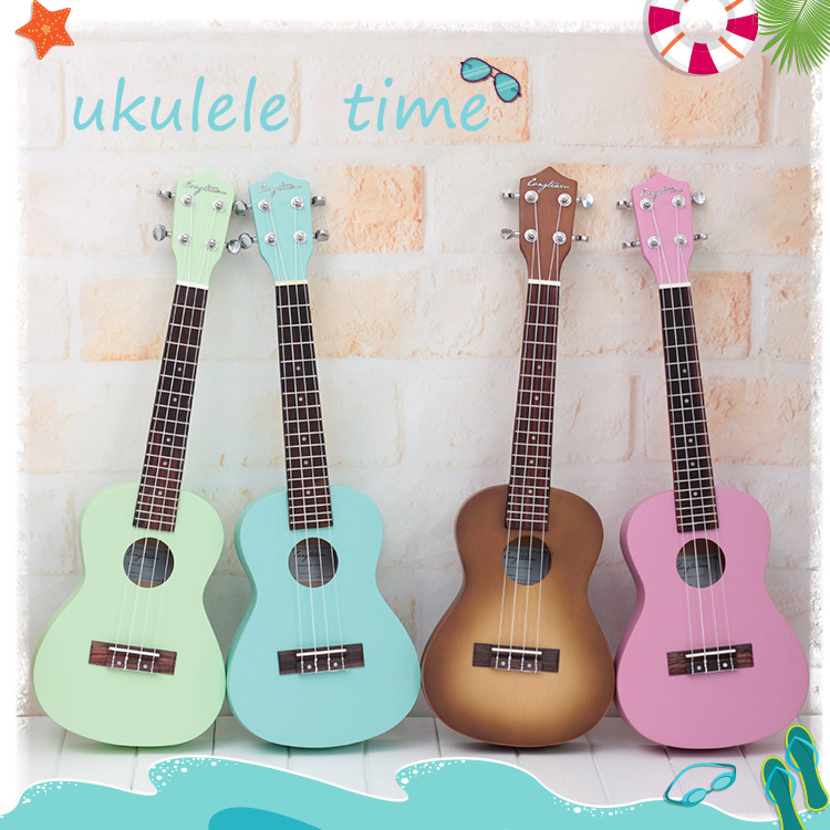 Authentic 23 inches mint green color especially in kerry ukulele Ukraine lili Hawaii tetrachord little guitar