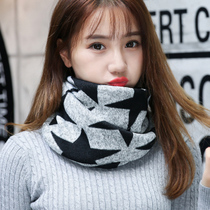 Fall and winter scarves women winter wool scarf set head collars British students dual-use thick warm hat Chao