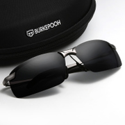 Male driver Sunglasses mirror polarizer driving mirror sunglasses eyes trendsetter male personality square Sunglasses