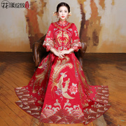 2017 new summer clothes show Wo bride toast clothing Chinese dress wedding wedding gown dragon modified