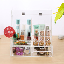 Transparent cover dustproof skincare beauty cosmetics box frame finishing cabinets