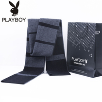 Playboy new pure wool scarf men casual Joker in winter warm men scarf scarf gift box