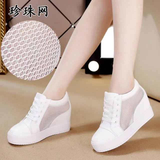 The new summer shoes 2017 increased thick bottom net shoes with white shoes casual shoes lady muffin bag mail