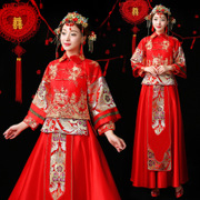 17 years of the new XiuHe serve toast the bride wedding Chinese style dress suit show kimono longfeng existing skirts prospective marriage
