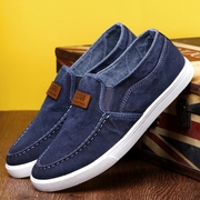 The fall of men's canvas shoes pedal all-match lazy leisure shoes old Beijing shoes trend of Korean men