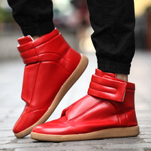2016 spring new European and American trend mmm Velcro sports casual shoes men's fashion shoes high help men's shoes