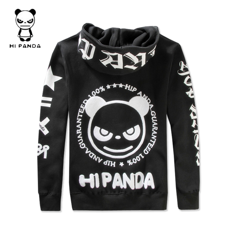 New counter purchase Panda lovers in Hong Kong cartoon hooded sweater letter prints for men and women and cashmere coat