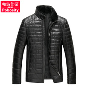 In the spring of 2016 new Haining Shi P pedicle Leather Mens mink fur sheep skin down jacket AN
