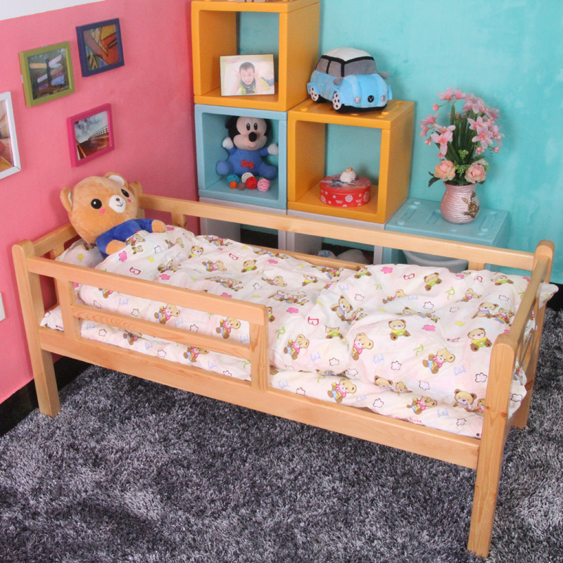 Baby Children's beds with Rails crib solid wood children's beds boys beds 1.5 1.2 girl princess bed half-height