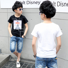 The child of 2017 Korean children Childrens Boys new summer T-shirt in summer cotton shirt explosion tower