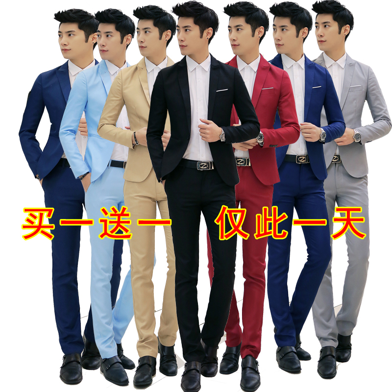 The spring section suits men's wedding dress and groom DP job interview 4S occupation business suits