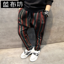Baby clothes boys trousers children Footless 2016 winter new style leisure trousers kids plus fleece pants