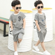 The big boys summer suit 2017 new children in the summer of 3 children 5 Boys 7 years old 4 short sleeved Korean tide