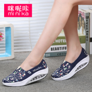 Amy. Click the canvas shoes with a pedal female slope slip-on female thick bottom shake shoes walking shoes old Beijing shoes women