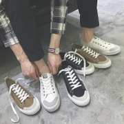 Summer lovers canvas shoes male Korean low lace shoes leisure shoes shoes white male students in autumn