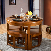 Langin home furniture wood table full of solid wood furniture imported oak dining tables and chairs and creative combinations of simple table table