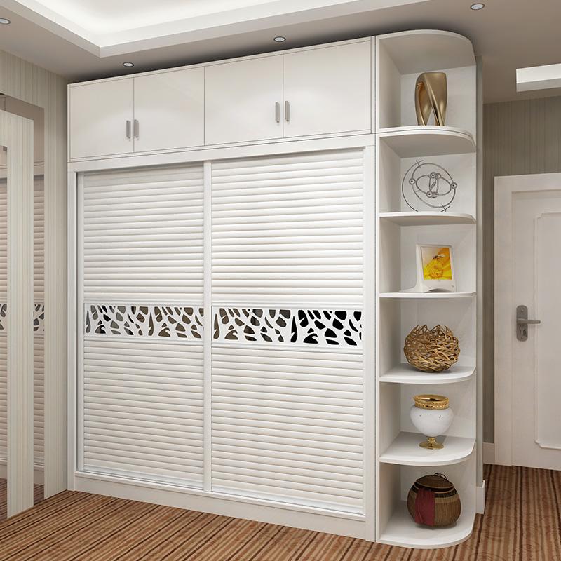 衣柜 整体移门推拉门衣柜 简约现代2门烤漆卧室大衣柜 定制衣橱