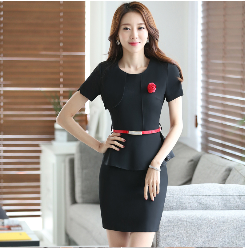 Occupation occupation suit dress short sleeved summer beauty salon cosmetics jewelry store sales work clothes