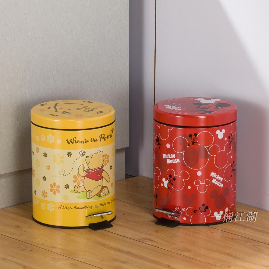 不锈钢垃圾桶 脚踏欧式小号创意 家用卫生间厨房客厅迷你可爱卡通