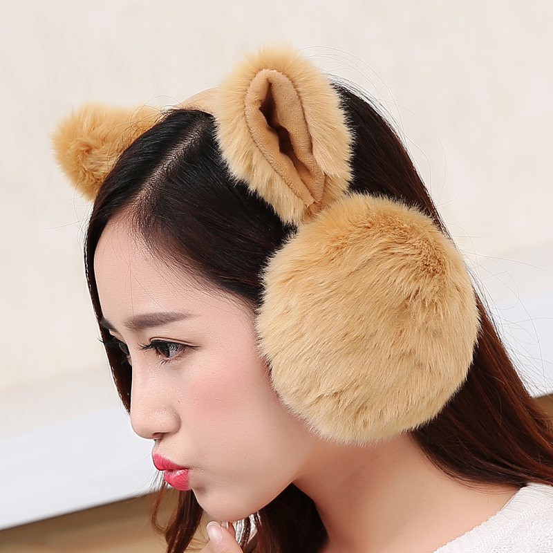 Folding earmuffs lady winter warm warm lovely Korean students ear ear ear care package set ear cover sub ear cap
