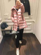 Spot black moncler 18 autumn and winter new style women's hooded doll ultra light down jacket section number suyen