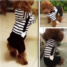 Tidal force! The dog pet dog Teddy four autumn and winter cotton bear Schnauzer Dog Clothes fat cat fighting method