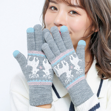 Warm winter men's ski gloves motorcycle riding lady winter wind cold upsetting with velvet gloves