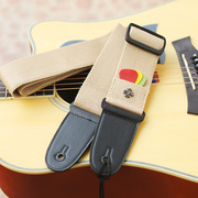 Can insert paddle wooden guitar strap cotton personality Crowley heart ballad guitar strap with Qin general widening