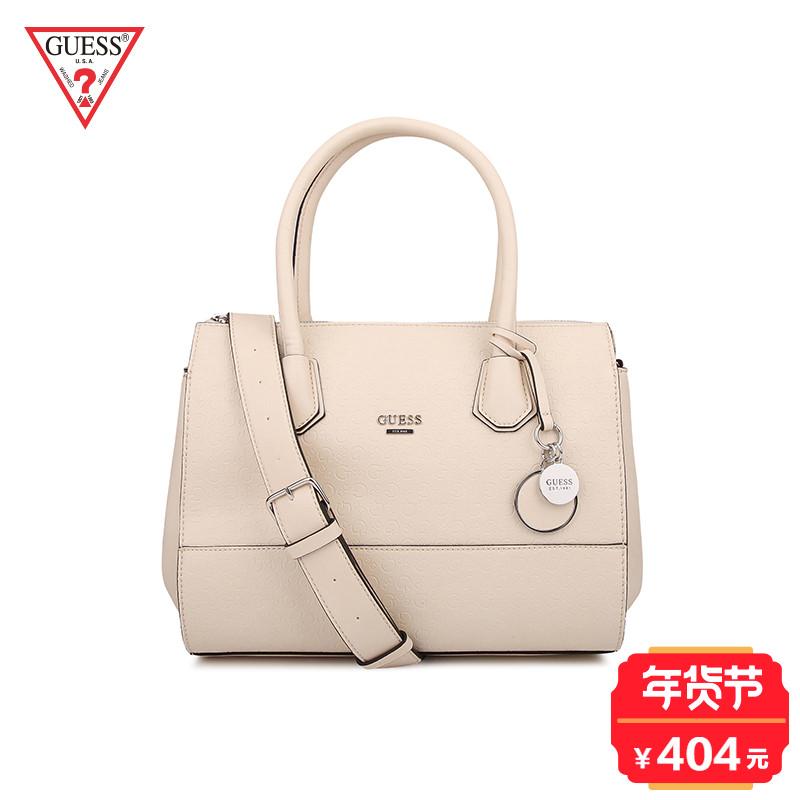 GUESS 17春女式字母印花金属LOGO饰手提单肩包-SE649607