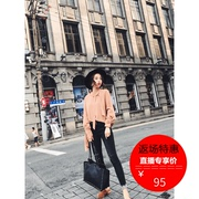 9.20 spot snow fall 2017 new shirt female Korean fashion simple all-match color coat