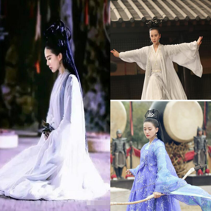 Mignon Feng Qing Liu Shishi with the Tang Dynasty costume show dust princess skirt Daily Photo Hanfu fairy service