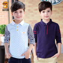 Special childrens clothing boys spring t-shirt baby boys long sleeve cotton Polo Shirt child large casual lapel jacket