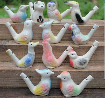 包邮泥人泥塑面塑陶瓷水哨泥哨口哨儿童趣味玩具音乐水笛哨子