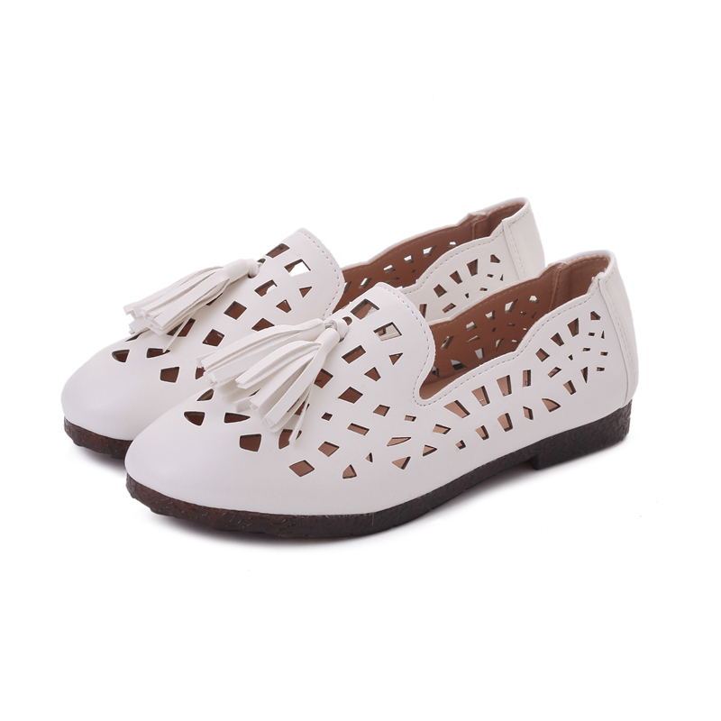 Mom shoes shoes all-match soft flat sandals with flat summer middle-aged woman hollowed out shoes