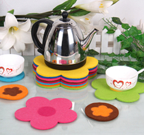 Sunflower adhesive-bonded cotton insulation pad anti-slip mat from IKEA European coasters DIY Candy-colored bowls mat