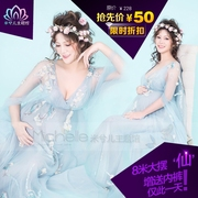 2017 pregnant women clothing apparel Photography photo photo studio big belly Mommy art as the flower fairy dress rental
