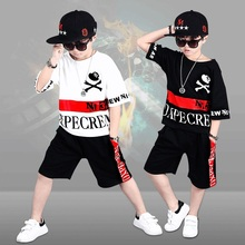 Fat children's clothing boys summer 2018 new set summer children's clothing big children 10 plus fat increase 12 boys 15 years old tide