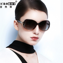 Sunglasses Ms. polarized sunglasses female 2018 new Korean tide UV protection glasses round face elegant myopia