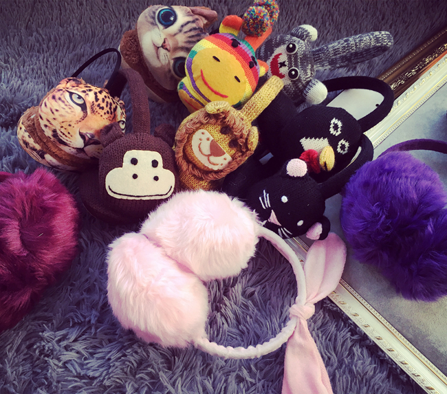The tidal range of adorable cute little fresh warm winter cartoon small animal ear soft sister fashion warm Earmuffs Ear