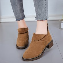 Autumn and winter boots female new trade all-match British style short boots tide flat casual women shoes Martin boots